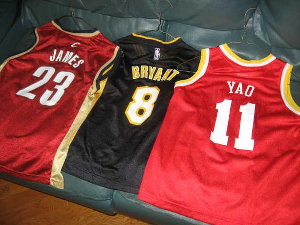 BASKETBALL JERSEYS-NEW AND ALMOST NEW