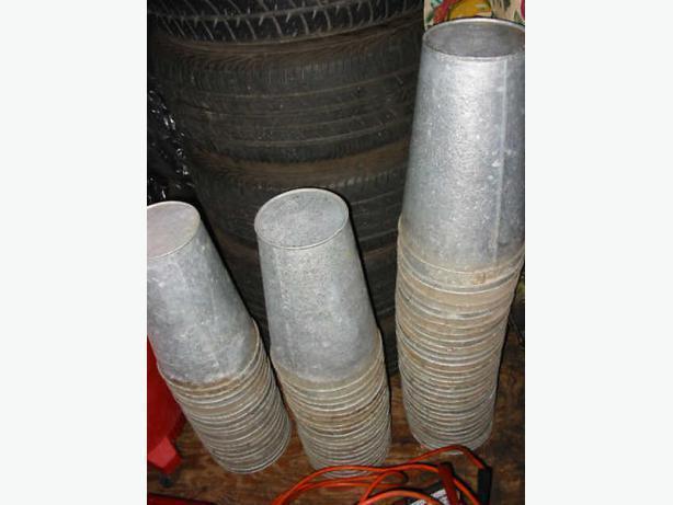 Wanted aluminum, galvanized & tin sap buckets IN QUANTITY