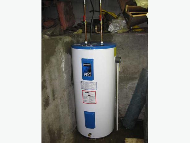 Hot water tank installer