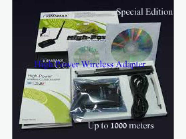 New High Power Long Range WiFi 802.11G/B USB Adapter (1000 Meters)