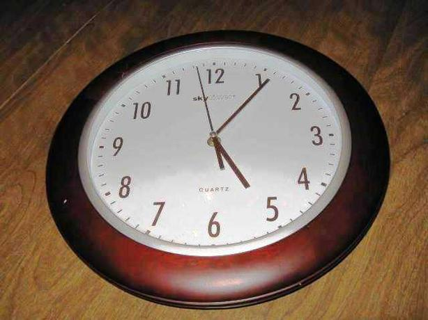 Skytimer Quartz Cherry Wood Wall Clock Central Ottawa ...