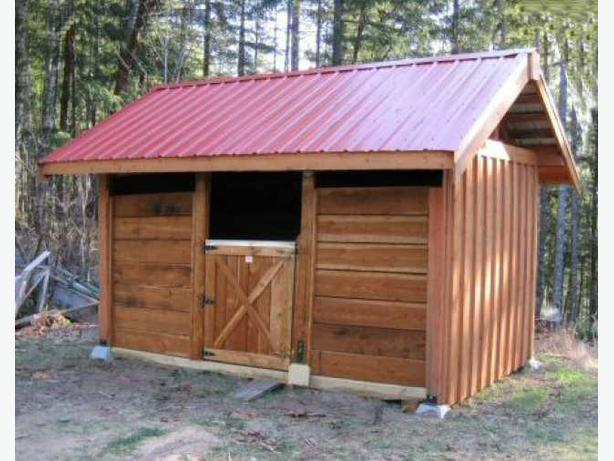 Post and beam small shed and barn building kits for Small shed kits