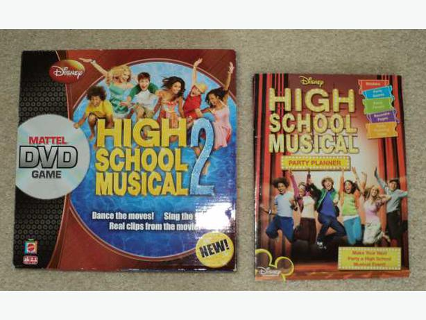 High School Musical DVD Board Game 2 plus Party Planner Book