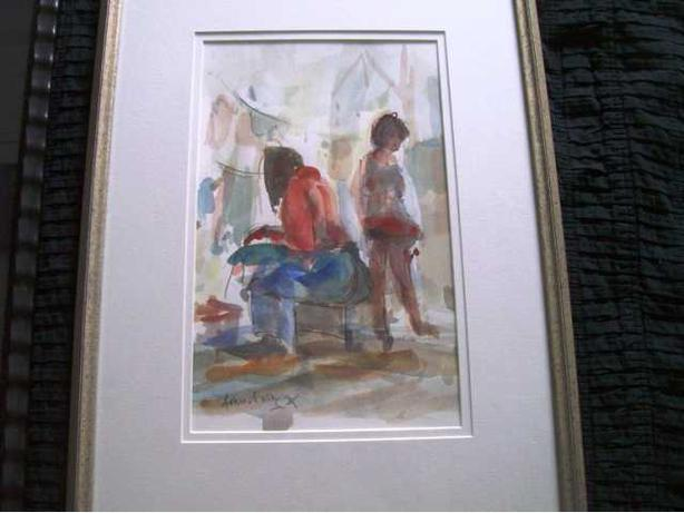 Watercolour of GIrls - David C. Armstrong