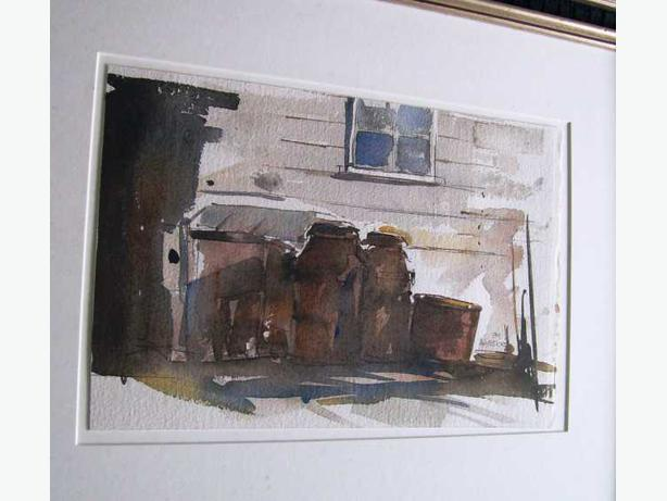 Watercolour of Alley Scene - David C. Armstrong