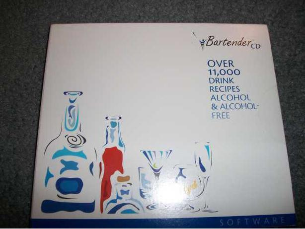 New 10,000 Drink Recipes Alcohol & Alcohol Free - Bartender CD-Rom's