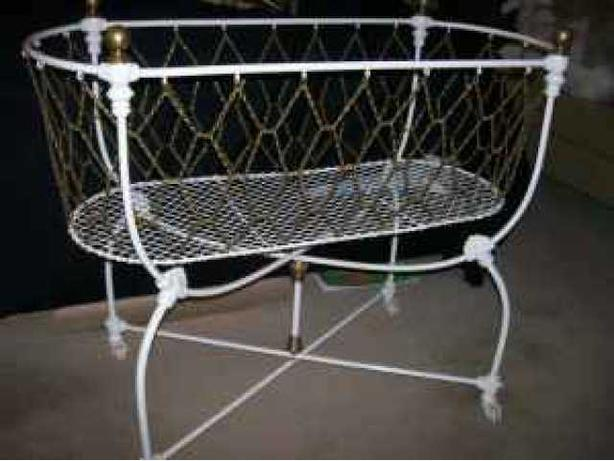 Antique Mesh Cradle - 1885
