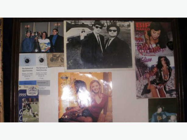 rare Deep Purple,Powder Finger,Bif Naked,Glenn Hurst Signed Skateboard