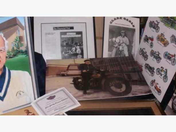 16 Rare TREV DEELEY Harley Davidson HOF Vintage Photos,Painting,Davidson Signed