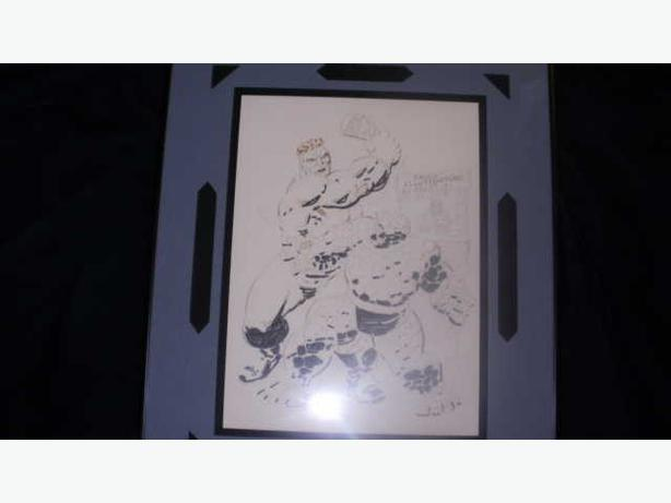Paul Ryan Signed Original Comic Art The Hulk/The Thing Framed