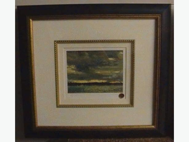 Tom Thomson Limited signed sealed Framed Sunset Sky