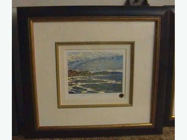 Tom Thomson Ltd signed sealed Framd Northern Lake Huron