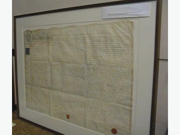 Rare 1810 Indenture Framed Lady Frere City of London