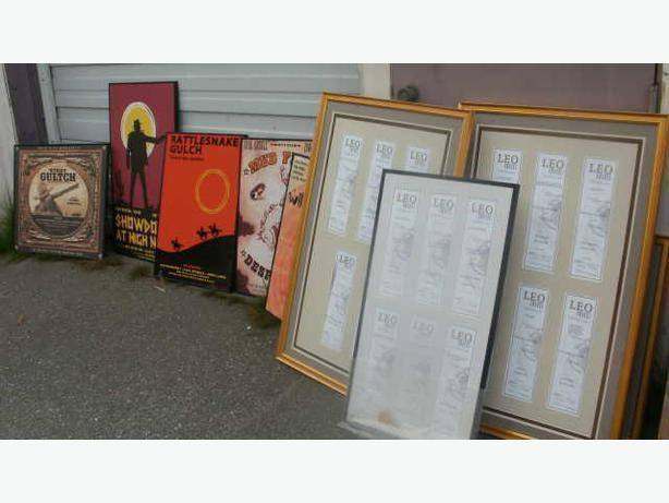 10 Larry Sugar Original Movie Posters & THE COLLECTOR BC Leo Awards 2005 Framed