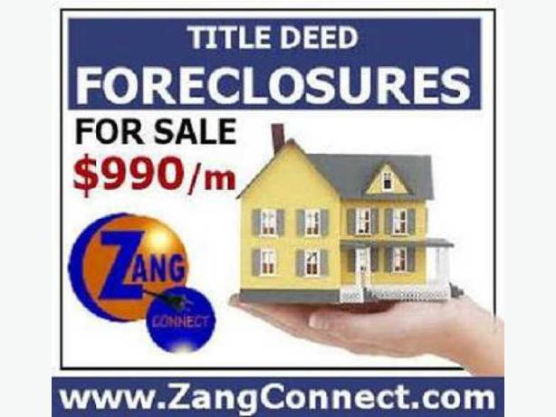 No Down Payment, No Qualifying on Foreclosure Deals!