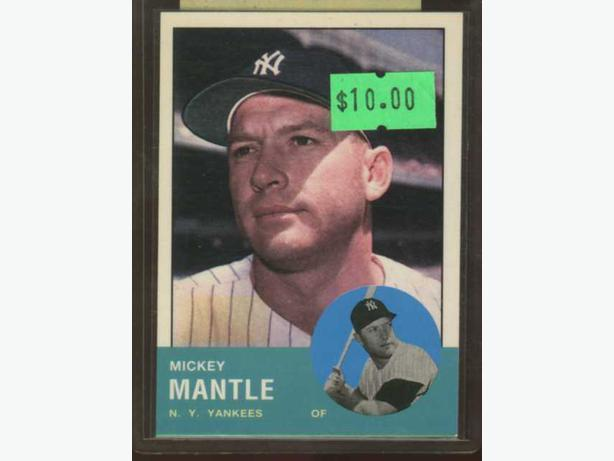 Mickey Mantle Topps 1963 Reprint Yankees
