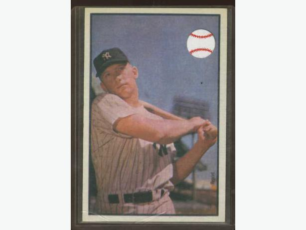 Mickey Mantle Bowman 1953 Reprint 1989 Yankees