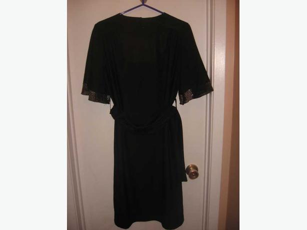BLACK DISCO DRESS WITH SILVER METALLIC