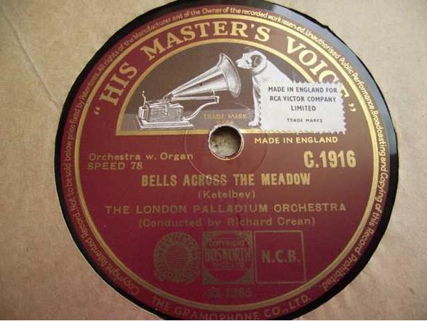 His Masters Voice 78 rpm ~ Bells Across the Meadow ~ The Phantom Melody  OFFER