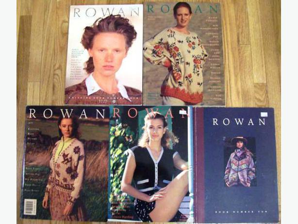 Five Rowan Knitting Books