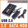 "Brand New 3.5"" External SATA Hard Drive Case Enclosure USB 2.0"