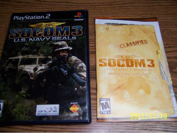 SOCOM 3 U.S. NAVY SEALS - PS2 GAME  -  CASSELMAN