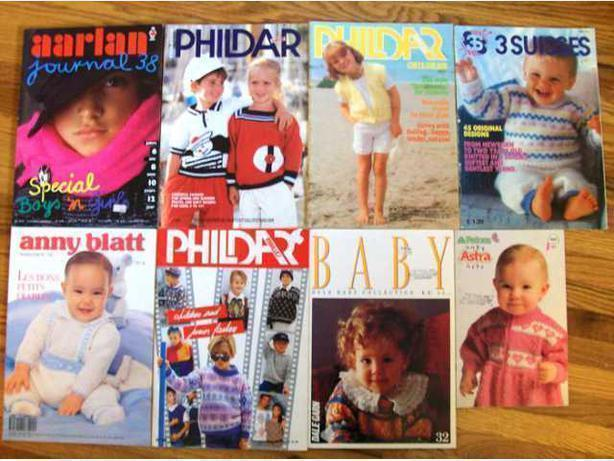 Eight Miscellaneous Kids and Babies Knitting Pattern Magazines