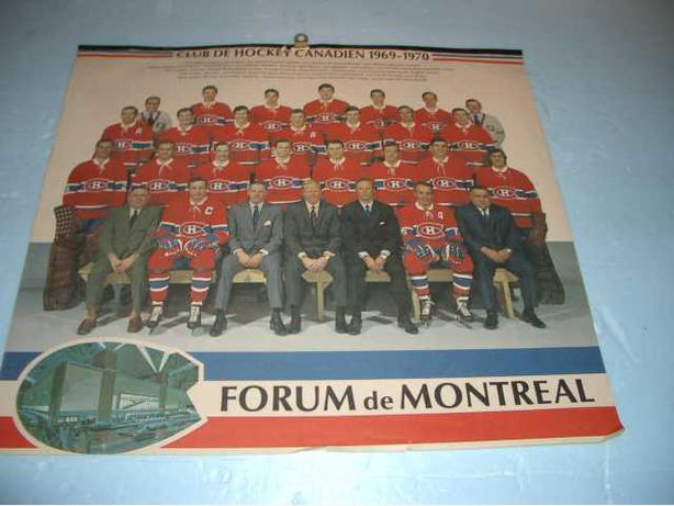 1969 Montreal Canadian's Team Photo from team Calender