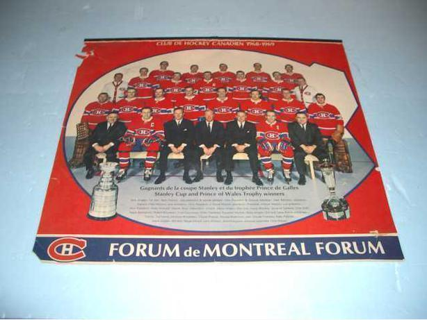 1968 Montreal Canadian's Team Photo from team Calender