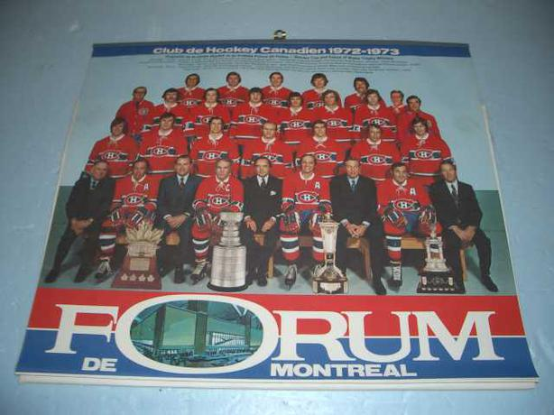 1972 Montreal Canadian's Team Calender Photo
