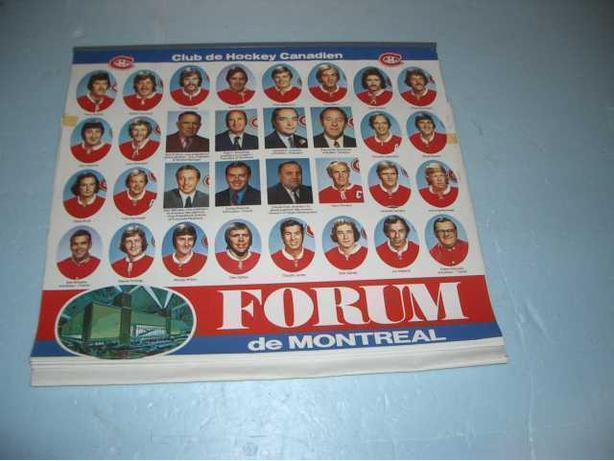 1974 Montreal Canadian's Team Calender Photo