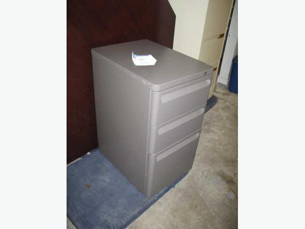 Pedestals, small file cabinets.
