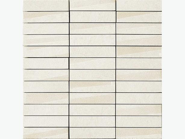 Porcelain tile for wall or floor in mosaic pattern