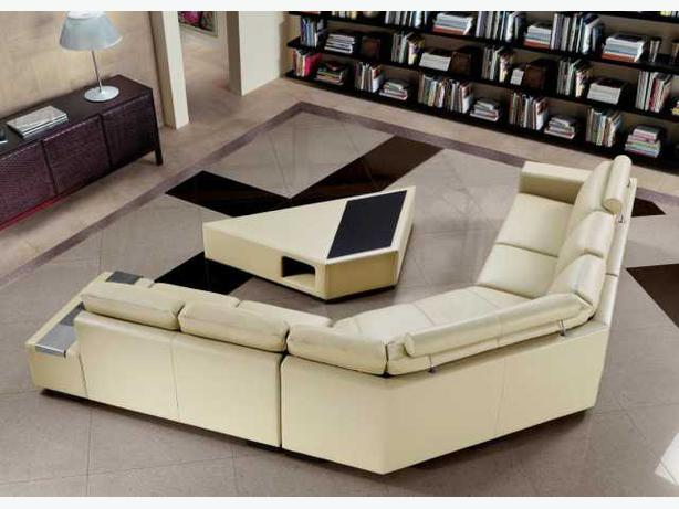 Modern Leather Sectional W Coffee Table In2condo In2house Reviews Outside Ot