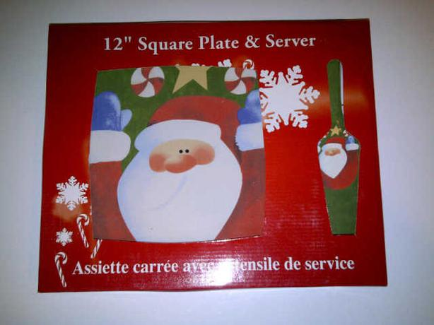 Christmas Pie Plate and Serving Implement in a gift box