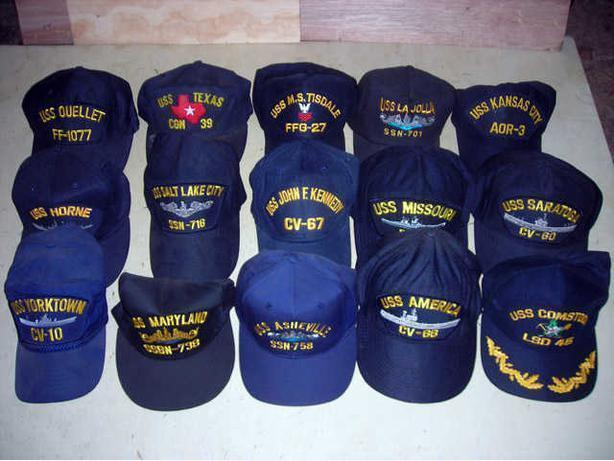 US Navy ships ballcaps