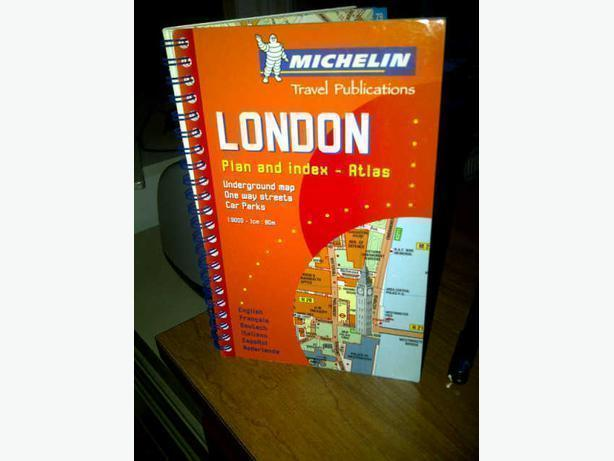 London Plan and Index by Michelin