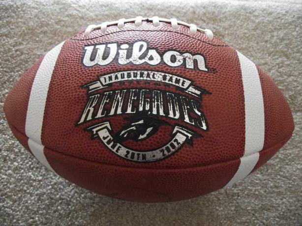 Inaugural football Ottawa Renegades - signed