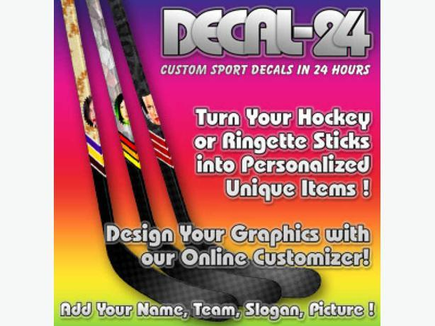 Hockey and Ringette Stick Wrap Around Graphics Decal - Sticker for your stick