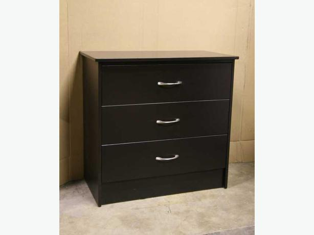 New Espresso Brown 3 Drawer Dresser Chest
