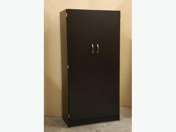 New Espresso Dark Brown Pantry Closet Storage Shelf