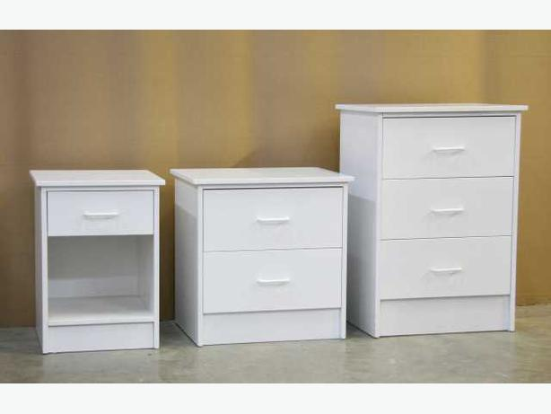 White Bed Side Table Night Stands **Brand New**