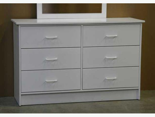 White Six Drawer Dresser **Brand New**