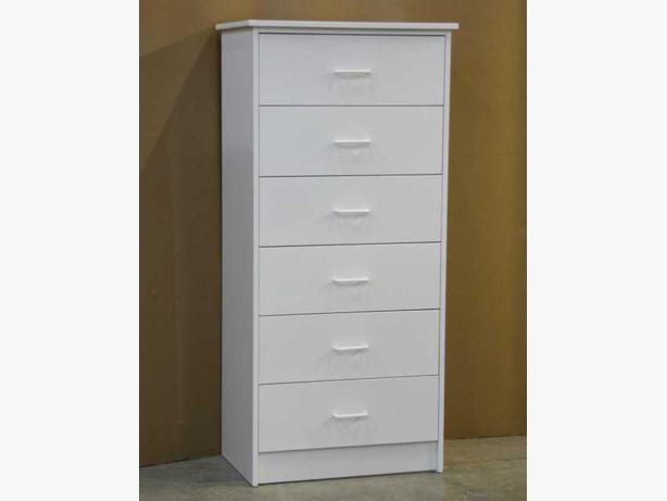 White 6 Drawer Tall Dresser Chest Brand New Richmond