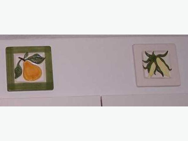 Fruit and vegetable decorative porcelaine tiles