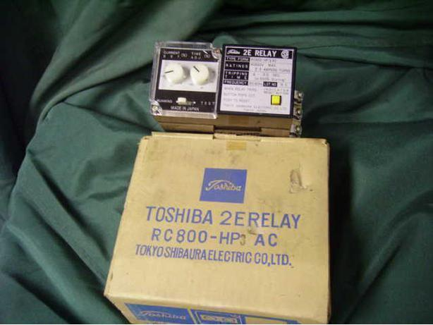 MOTOR PROTECTION RELAY TOSHIBA 2E RELAY RC 800-HP 3 AC