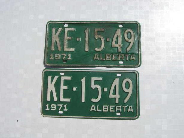 Alberta antique licence plates