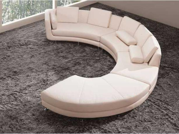 CLEARANCE MODERN FURNITURE LEATHER SECTIONAL SOFA