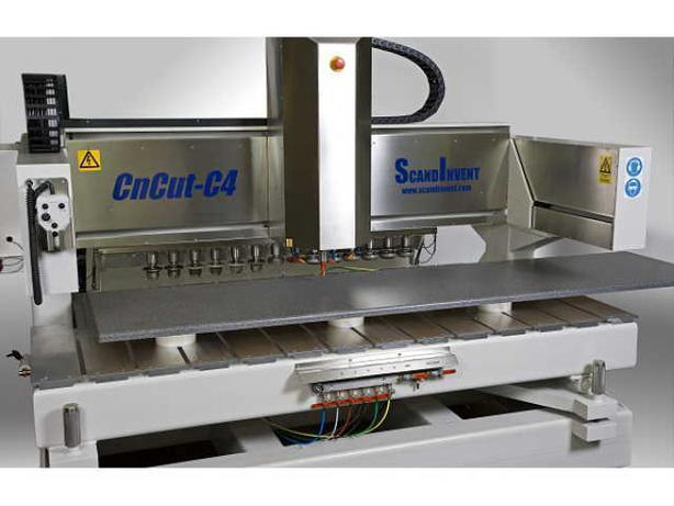 Scandinvent C4-CNC for Kitchens & Monuments. PHOTO & TEXT ENGRAVING