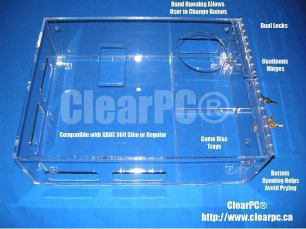 ClearPC Microsoft XBOX Slim Secure Case with Hand Opening
